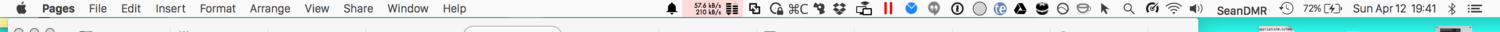 several icons in my Mac's menu-bar that run across more than half the screen