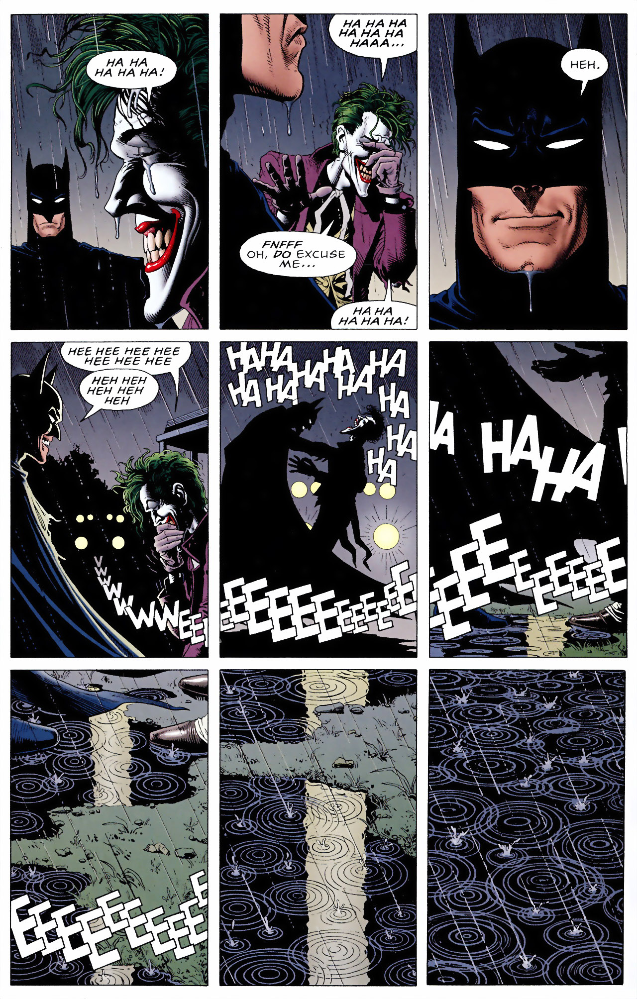 The last page of the Killing Joke